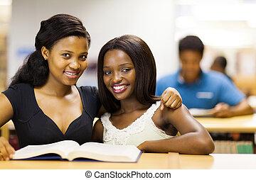 studenci, uniwersytet, przyjaciele, afrykanin