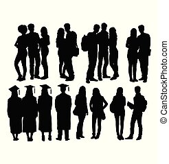 Student Activity and Graduation Silhouettes