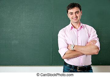 student, albo, nauczyciel, na, przedimek określony przed rzeczownikami, tablica