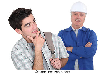 student and plumber