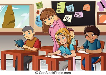 Student and Teacher in the Classroom