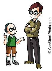 Student asking teacher
