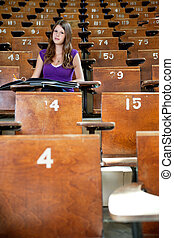 Student at university hall