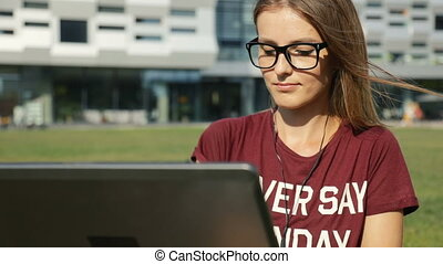Student before University - Smart, persistent student using...