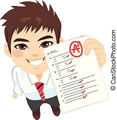 Student Boy A Exam Result