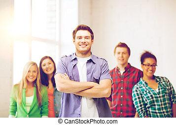student boy at school