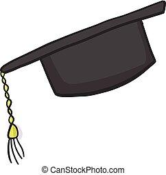 Student cartoon cap icon