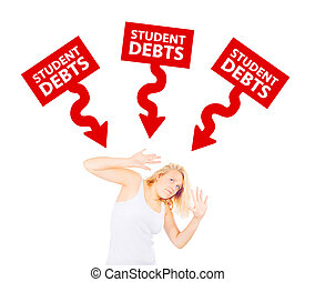 Student Debts Concept