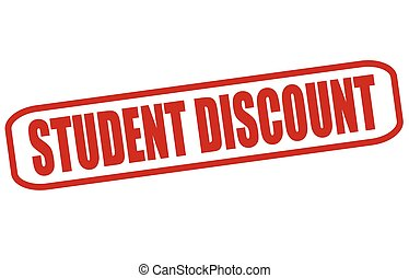 Student discount - Rubber stamp with text student discount...