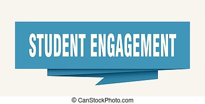 student engagement sign. student engagement paper origami...