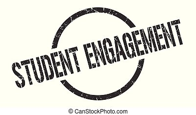 student engagement stamp - student engagement black round...