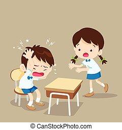 student girl helping friend have headache