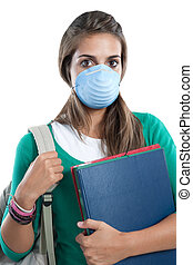 Student girl infected with influenza A
