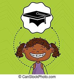 student girl study icon