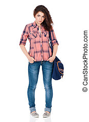 Student girl with bag