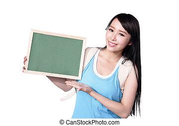 student, glücklich