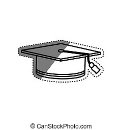Student graduation hat icon vector illustration graphic...