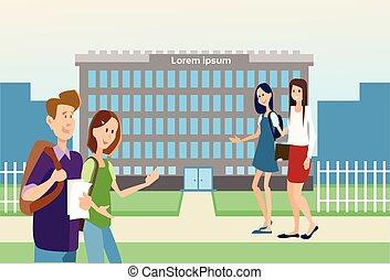 Student Group University Education School Building