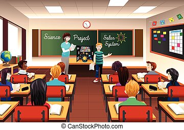 Student Having Science Presentation