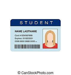 Student ID card. Vector illustration