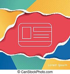 student ID line icon