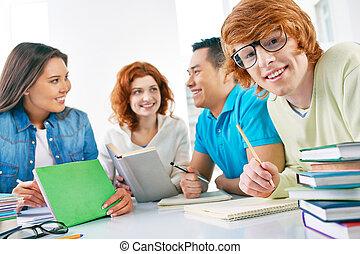 Student in eyeglasses