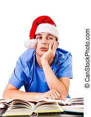 Student in Santa Hat
