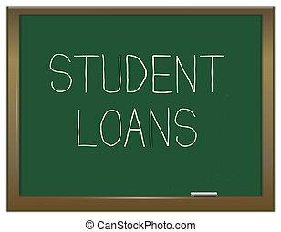 student, lån, concept.