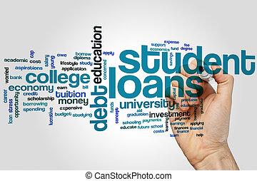 student, lån, glose, sky