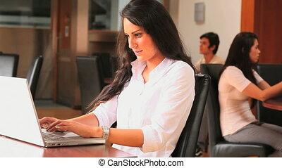 student, laptop