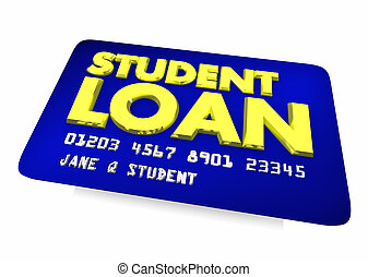 Student Loan Credit Card Borrow Money Debt 3d Illustration