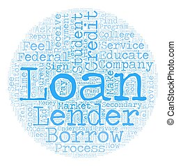 Student Loan Lenders text background wordcloud concept