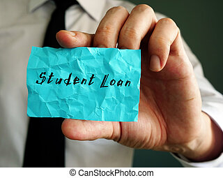 Student Loan phrase on the sheet.