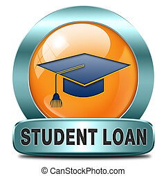 student loan icon for university or college education