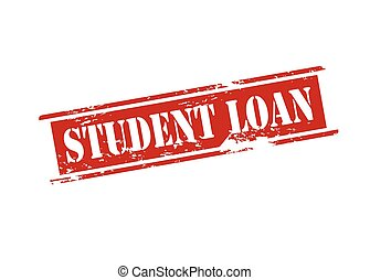 Rubber stamp with text student loan inside, vector illustration