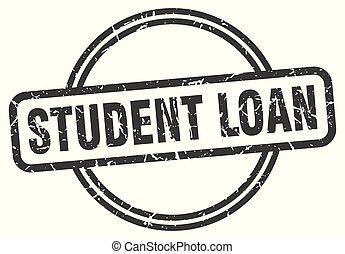 student loan vintage stamp. student loan sign