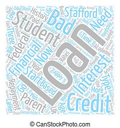 Student Loans and Bad Credit text background wordcloud ...