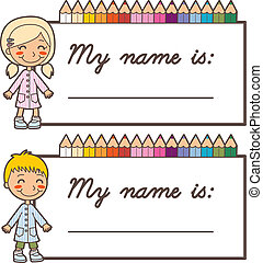 Student Name Stickers