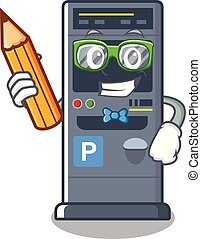 Student parking vending machine the cartoon shape