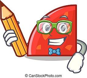 Student quadrant character cartoon style vector illustration