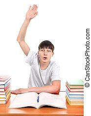 Student raise his Hand