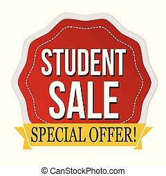 Student sale label or sticker