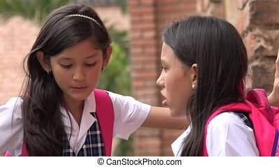 Student School Girls Talking