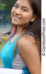 Student Smiling Beautiful Girl
