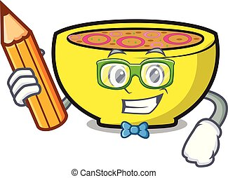 Student soup union character cartoon