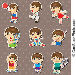 student sport stickers