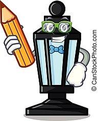 Student street lamp character cartoon