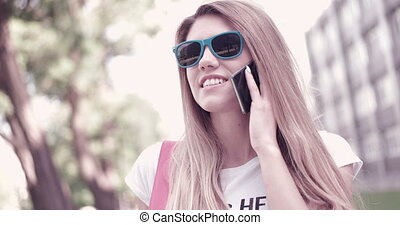 Student Talking On Phone