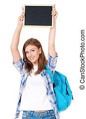 Student teen girl