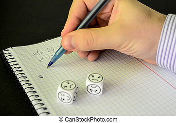 student trying to solve mathematical equation without success